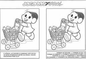 desenho jogo dos 7 erros monica supermercado colorir tudodesenhos