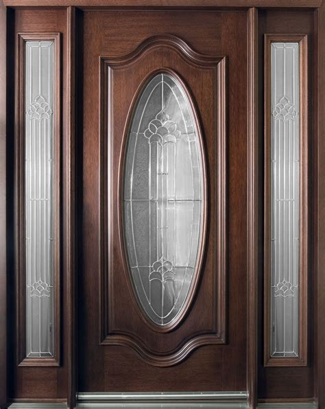 Custom Front Doors Front Door Custom Single With 2 Sidelites Solid Wood With Mahogany Finish Classic