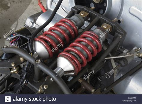 Coil Racing F1 Suspension Set Up With Coil Shock Absorbers On An Open Wheel Stock Photo Royalty Free