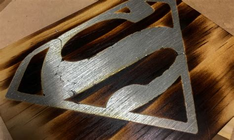 solder inlay superman logo   woodworking project
