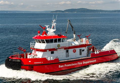 fire boat san francisco s hot new fireboat workboat