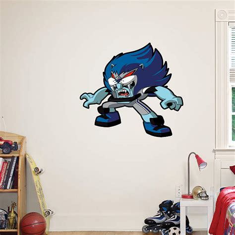 detroit lions rusher fathead wall decal