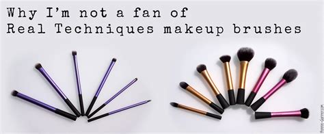 real techniques fan brush why i m not a fan of real techniques makeup brushes