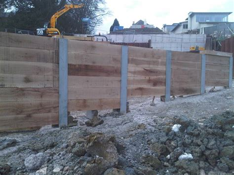 Sleeper Retaining Wall Systems by King Post Retaining Walls Advanced Mini Piling Systems