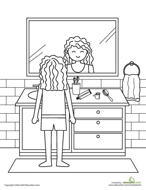 free coloring pages of personal hygiene