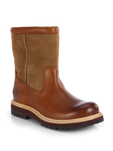 ugg boots for ugg polson classic boots in brown for chestnut lyst