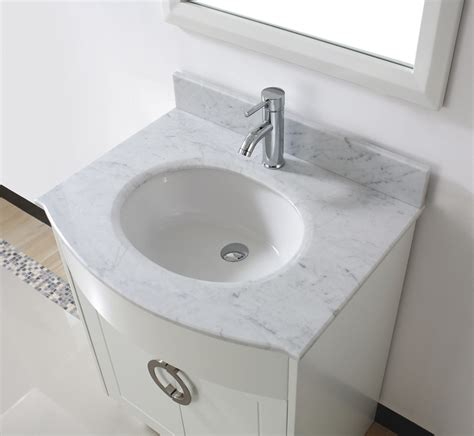 zoe 28 quot small white bathroom vanity countertop