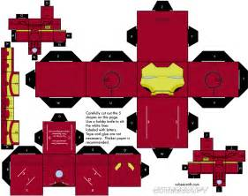 5 paper toys iron man paper toy fr