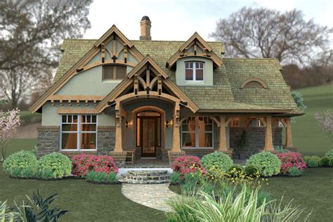 craftsman house plans one story with porches most popular storybook cottage style time to build