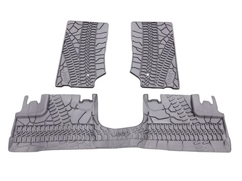 Slush Mats For Jeep Wrangler by All Things Jeep Mopar Jeep Front Rear Slush Mats For