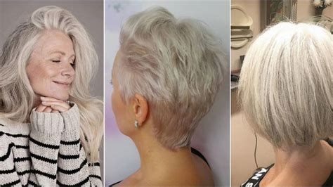 Mode Actuelle Coupe Cheveux by 20 Id 233 Es Coupes Et Coiffures Pour Les Cheveux Blancs