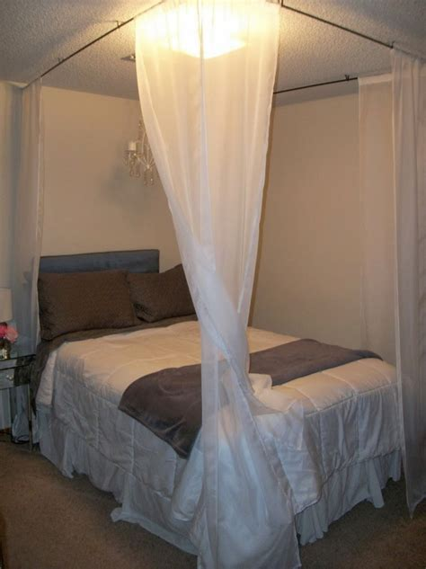 homemade canopy bed january 2015 curtains design