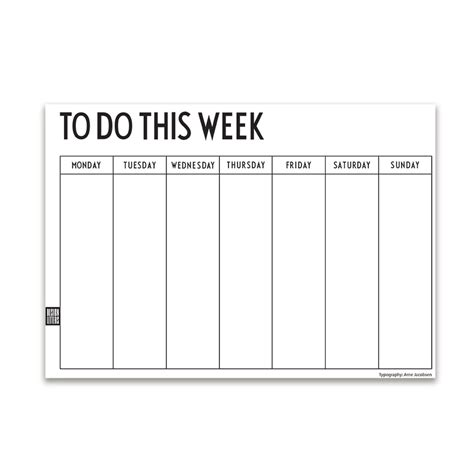 design familiekalender weekly planner by design letters in the shop