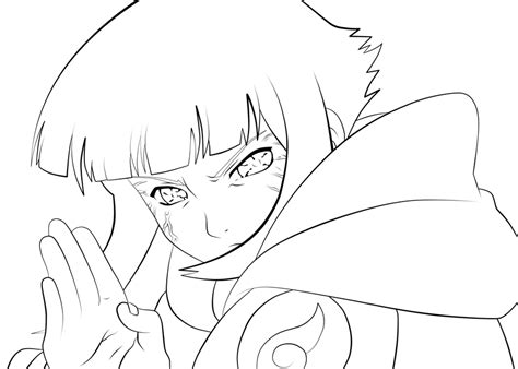 anime naruto coloring pages luiscachog me hinata byakugan lineart by l3xxybaby on deviantart