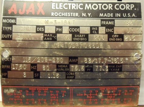 ajax electric motor wiring diagram 34 wiring diagram