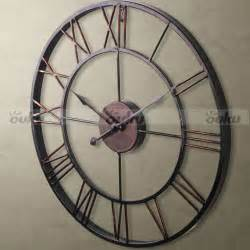 Large Wall Clocks Large Metal Wrought Iron Hton Wall Clock