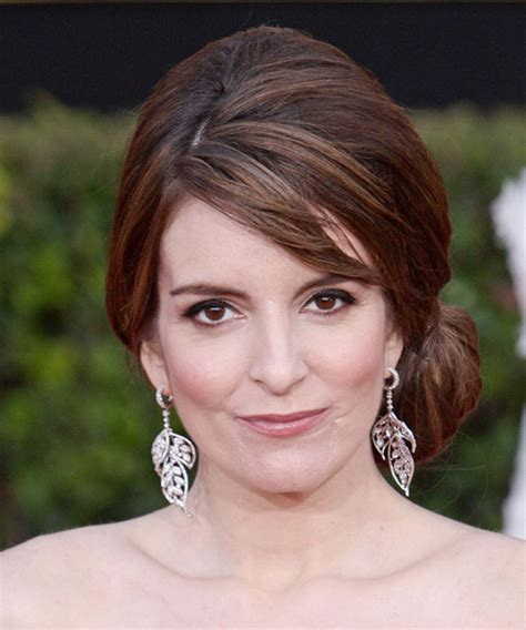 Tina Fey Hairstyle by Tina Fey Updo Curly Casual Updo Hairstyle With Side