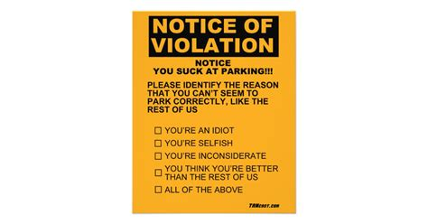 Office Wall Stickers you suck at parking ticket flyer zazzle