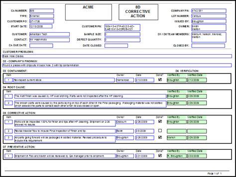 8d form template 8d form template excel dlhouse