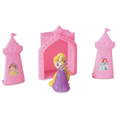 Topper Background Castle 1 4 sheet disney princess rapunzel and castle background with cake kit edible image cupcake or