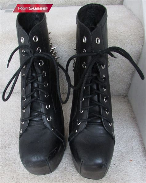 Handmade Last Jeffrey Cbell - jeffrey cbell last handmade black spike heels