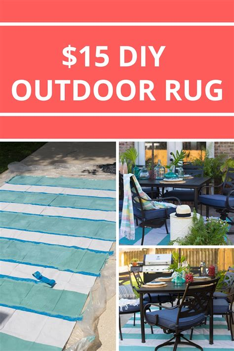 Painted Rug From A Drop Cloth Make Your Own Outdoor Rug