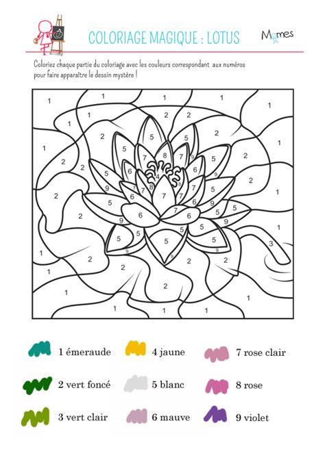 Coloriage Magique Le Lotus Momes Net
