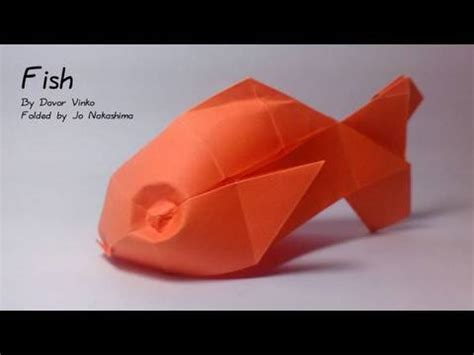 How To Make 3d Fish Out Of Paper - origami fish davor vinko
