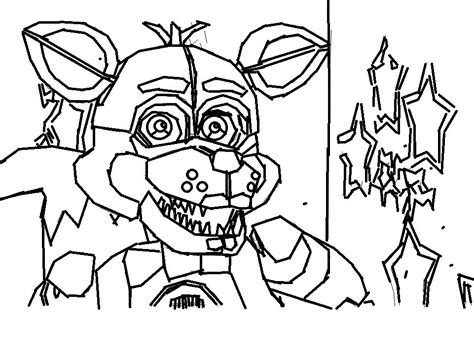 coloring pages of foxy murderthestout