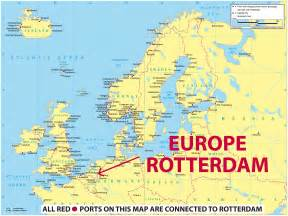 rotterdam netherlands on map port of rotterdam on a map of europe like success