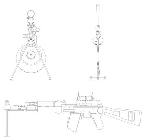 ak 47 blueprints ak 47 modify blueprint free blueprint for 3d