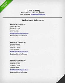 Resume Reference Page Template References On A Resume Resume Genius