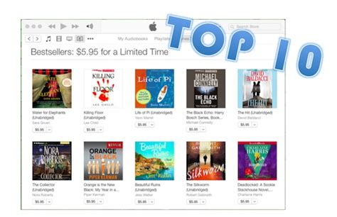 itunes best top 10 bestselling audiobooks on itunes store