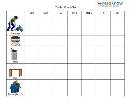 printable chore charts for kids | lovetoknow