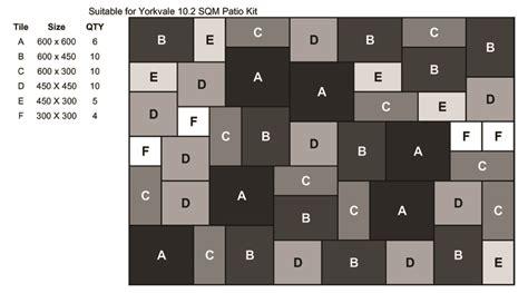 Patio Laying Patterns 4 Sizes by Paving Laying Patterns Corfe