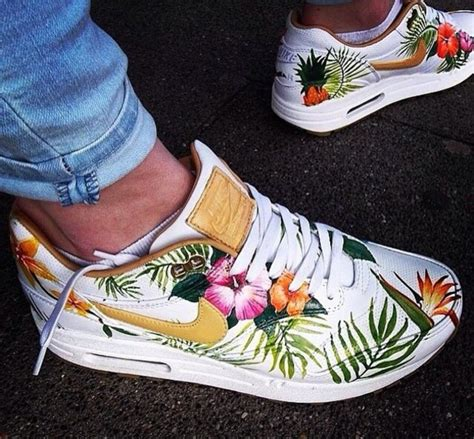 Nike Airmax 90 Flower shoes tropical white air max nike blouse sunglasses