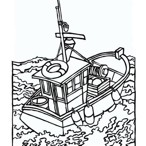 dessin bateau de peche coloriage bateau de p 234 che a imprimer gratuit