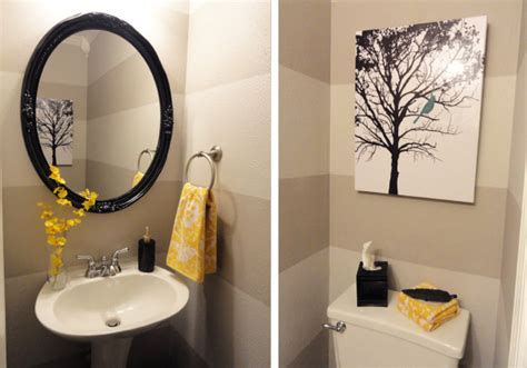 grey and yellow bathroom ideas pondering the powder room