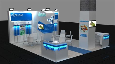 exhibition layout 3d 3d exhibition stand 1 3d model max cgtrader com