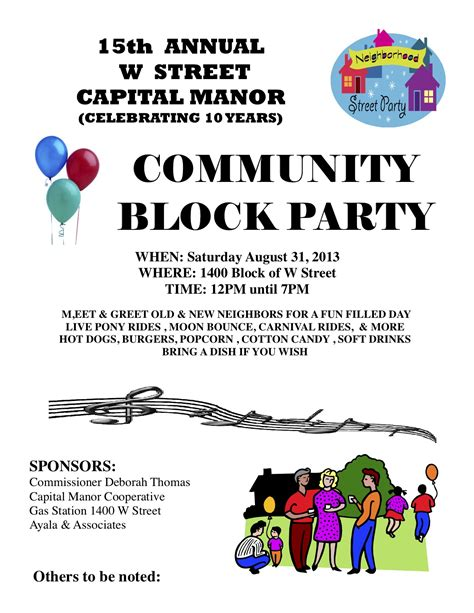 15th annual w street capital manor community block party