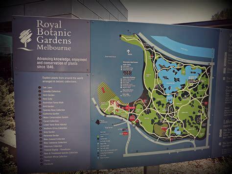 Royal Botanic Gardens Melbourne Melbourne Botanic Gardens Melbourne Map