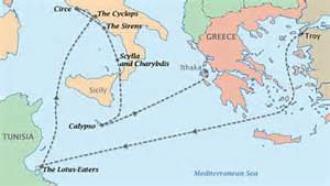The Odyssey Lotus Eaters Summary Odyssey Telemachus And Odysseus Journey Map