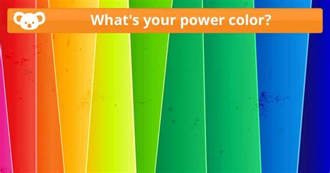 what s your color quiz what s your power color koala quiz