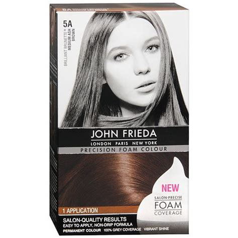 permanent ash brown hair color ash brown hair dye l john frieda precision foam color permanent hair colour