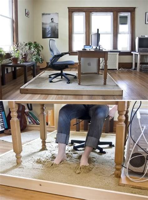 beach sand under the work desk furniture mommyessence com home office ideas 10 coolest home offices oddee