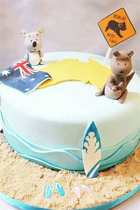australian themed party uk australian themed cake with kangaroo koala topper