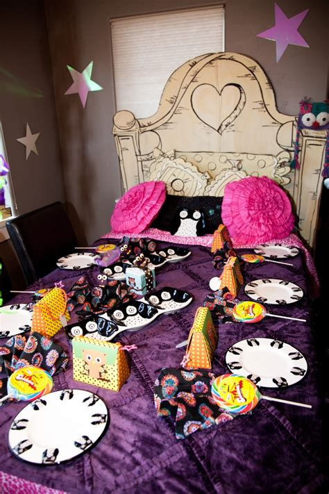 party themes young adults head board made out of an old refrigerator box sheets and
