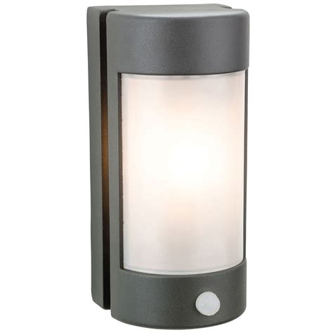 Outdoor Wall Lights With Pir Arena Diecast Aluminium Graphite Outdoor Wall Light With Pir