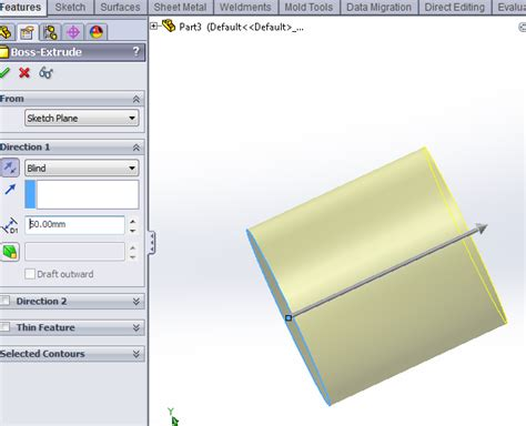 solidworks tutorial boundary boss boundary boss base feature in solidworks solidworks