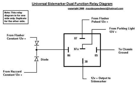 relay wiring diagram 5 pole wiring
